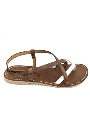 Bianco Pelle 200631 Artigianali Italy Shoes Mainapps Zeta Sandali Cuoio Infradito Made In XwxUn4qnP