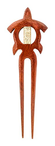 - Hawaiian Ocean Sea Turtle Honu Koa Wood Hair Stick