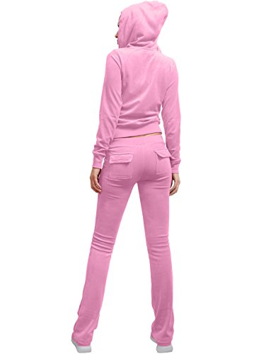 a423e411a38f2 NE PEOPLE Womens Casual Basic Velour/ Terry Zip Up Hoodie Sweatsuit Set by NE  PEOPLE