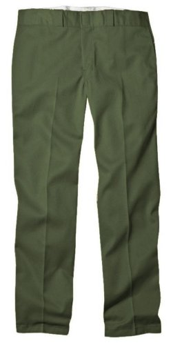 Dickies Men's Original 874 Work Pant, Olive Green, 34W x 32L