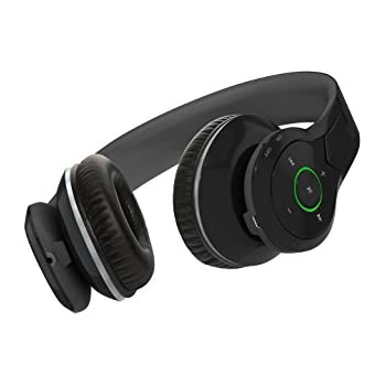 NeoJDX Venice Over ear bluetooth Headphones, Best Bass Headphones with 40mm Bass Driver, Noise Isolated wireless Headset, with mic - Black