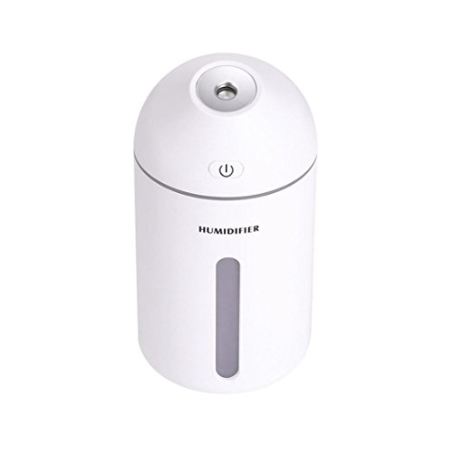 Kanzd USB Anti Dry Atomizer Humidifier Essential Oil Diffuser Steam 7 Color LED Light Car Office (C)
