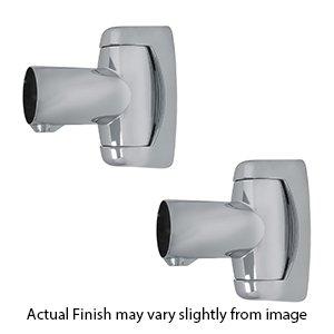 Shower Rod Swivel End Flange - - Shower Curtain Crescent Rod