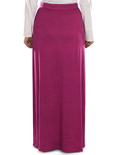 in Rock muslimische MyBatua Munisa Frauen Kleidung langer Jersey Magenta x0fqZO4R