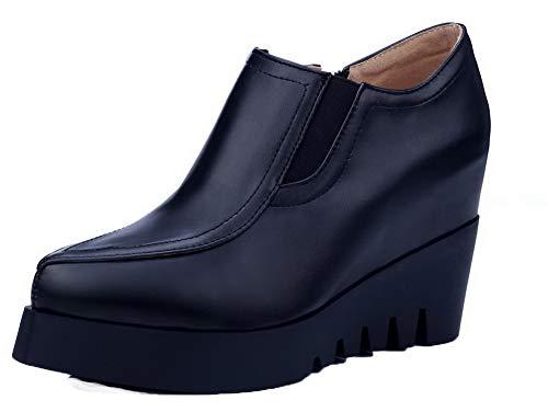 Femme D'orteil Couleur Chaussures Zip L Unie Agoolar Fermeture 6qAwdx6Z