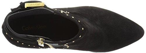 Ankle Suede Calvin Women's Stretch Black Bootie Klein Jozie SAqHqxRtw