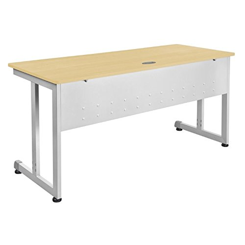 OFM Modular Training Desk With Wheels - Contemporary Durable Office Table, Maple, 24