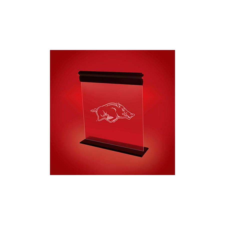 ARKANSAS RAZORBACKS ACRYLIC LED LIGHT DISPLAY MAN CAVE OFFICE