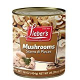 Lieber's Mushrooms Stem & Pieces KFP 16 Oz. Pack Of 6.