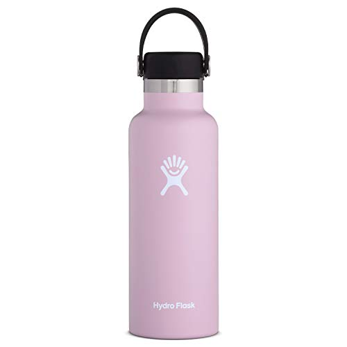 Hydro Flask Standard Mouth Water Bottle, Flex Cap - 18 oz, Lilac