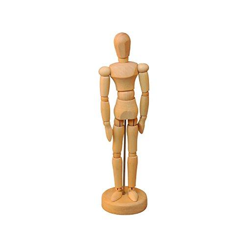 Wooden Male Manikin -- Sectioned Full Body Artist Mannequin -- Yazycraft