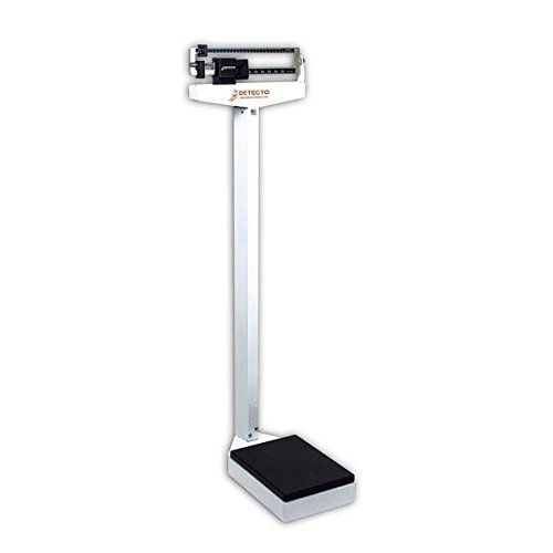Detecto 439 Balance Beam Doctor/Physician Scale w/ Height Rod, 400 lbs, Made in the ()