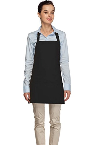 DayStar Aprons Style 200 Three Pocket Bib Apron, Black by DayStar Apparel