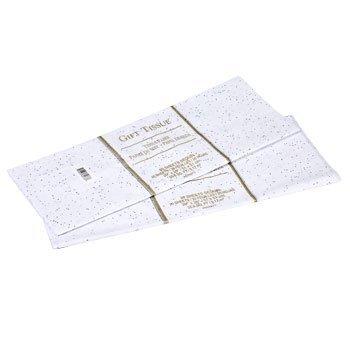 Sparkle Foil - Gift Wrap Bag Tissue Paper White Foil Sequin Sparkle 20 Sheets 20 x 20 Inches