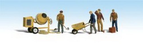 Woodland Scenics HO Scale Scenic Accents Figures/People Set Masonry Workers (4) by Woodland (Woodland Scenics Masonry)