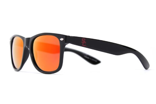 NCAA USC Trojans  USC-5 Black Frame, Cardinal Lens Sunglasses, Black, One - Usc Sunglasses
