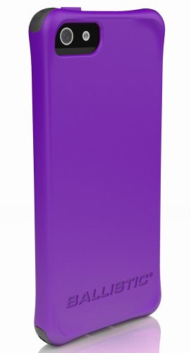 Ballistic LS0955-M985 LS Smooth Case for iPhone 5, Purple TPU with 4 White, 4 Purple, 4 Black, 4 Teal Bumpers - 1 Pack - Retail Packaging - Purple Apple Iphone 4 Jewel