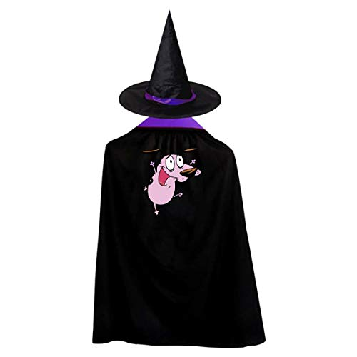 Pink Dog Kids' Witch Cape With Hat Classic Vampire Cloak For Halloween Cosplay Costume