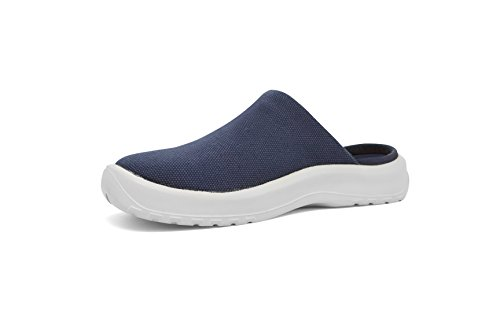 SoftScience The Daisy Canvas Comfort Casual Female Shoes Blue 7 (Daisy Clog)