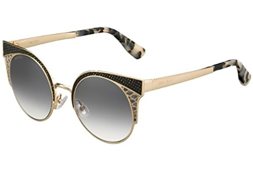 Jimmy Choo - ORA/S, Cat Eye, metal, women, GOLD BLACK HAVANA/GREY SILVER SEMI-MIRROR(PSW/IC), - Silver Jimmy Choo