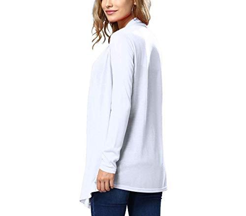 A Monocromo Outwear Marca Moda Comodo Irregular Giacca Stile Mode Di Modern Autunno Pullover Cappotto Maglia Manica Donna Lunga Bianca 5q0nOx