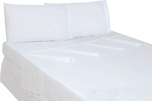 [Utopia Bedding Soft Brushed Microfiber Full Flat Sheet, White] (Full Flat Sheet)