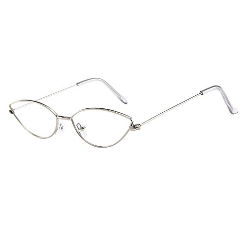 JJLIKER Cat Eyes Metal Frame UV 404 Protection Sunglasses Unisex Lightweight Colorful Goggles Running Travel ()