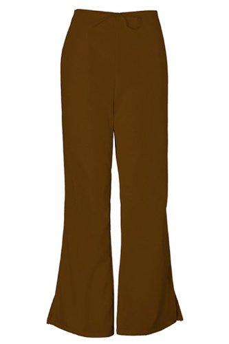 Cherokee Workwear Scrubs 4101 Tall Low Rise Flare Leg Scrub Pant (Chocolate, 2XL-Tall) Tall Low Rise Flare Pant