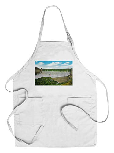 Grand Coulee Dam showing visitor center (Cotton/Polyester Chef's Apron)