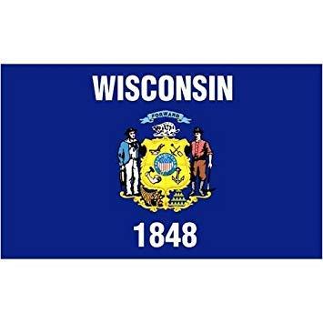 US Flag Store Wisconsin 4ft. x 6ft. Spun Heavy Duty Polyester Flag