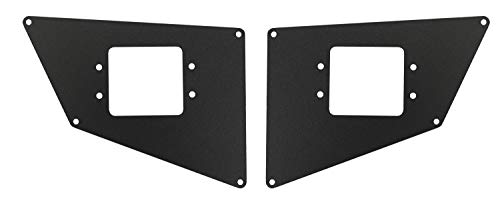 Go Rhino 281731T Textured Black Powder Coat Finish Rear Light Plate (BR20) - Go Rhino Brackets