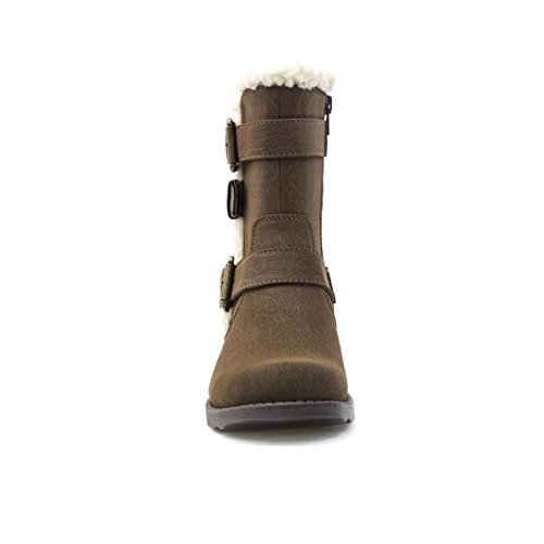 Lilley - Bota al tobillo marrón, para mujer, con tres hebillas Lilley Marrón