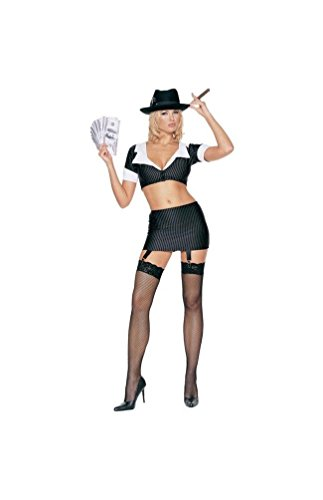 Gangster Girl Adult Costume - Small/Medium