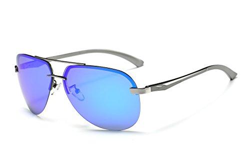Sun Air Unisex Aviator Stil Polarisierte Sonnenbrille Herren und Damen UV400 Schutz Verspiegelt Pilotenbrille