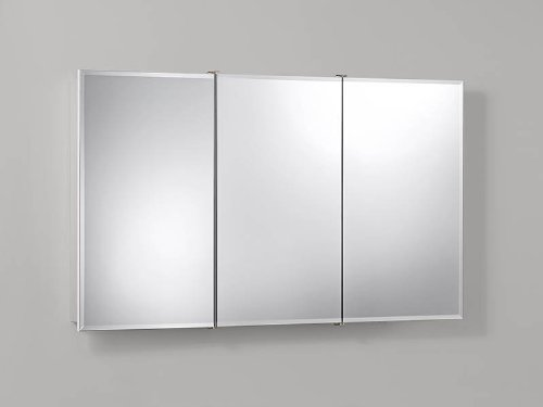 Jensen 755296 Ashland Frameless Medicine Cabinet, Classic White Wood, Surface Mount, 48-Inch by 28-Inch (Medicine Frameless Cabinet Classic)