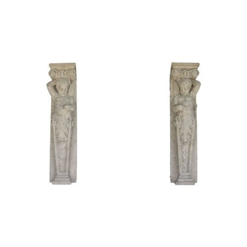 Pilaster Accents (Design Toscano Fontainebleau Winged Cherub Architectural Pilaster Sculpture Pair)