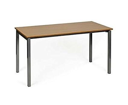 hjh OFFICE 673991 Escritorio, mesa de ordenador YORK 140 cm gris ...