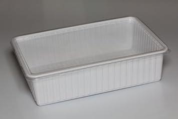 Hervorragend Kunststoffbox schwarz, groß (24x18x7,5 cm) Deckel transparent  BH38