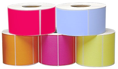 Thermal Transfer Labels Fan - Fluorescent Pink Thermal Transfer Labels w/Perforation 4 x 6