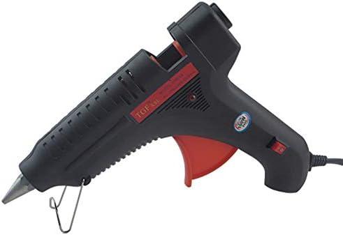 ミニグルーガン、 100Wユニバーサルサーモスタット ホットメルトグルーガン-7mmの接着剤スティックに適しています。クリスマスツリー、デコレーション