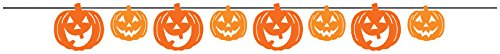 Creative Converting Pumpkin Faces Ribbon Banner,