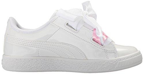 Puma Sneaker Kids' Ps Heart Basket White Patent Whit puma PxfwPHq
