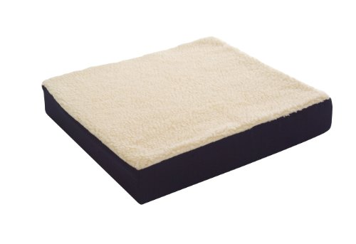 Wheelchair Pad (Essential Medical Supply Fleece Covered Wheelchair Cushion, 18 Inches X 16 Inches X 3 Inches)