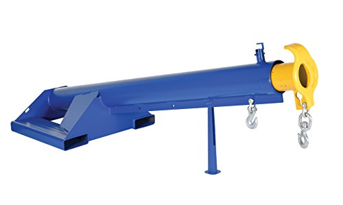 Vestil LM-F15-4-24 Lift Master Boom, 15 Degree, 4000 lb. Capacity, 87'' Length, 32'' Width, 32.968'' Height, 24'' Fork, Blue by Vestil