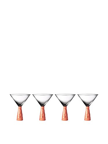 Fitz and Floyd Daphne Martini Glasses (Set of 4), Copper