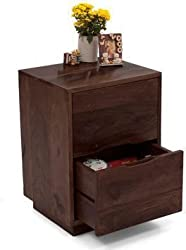 Urban Ladder Zephyr Solid Wood Bed Side Table (Mahogany)