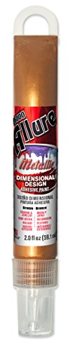 E6000 57081251 751H Allure Metallic Dimensional Adhesive Paint, Bronze, 2 fl. oz.