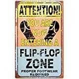 Ohio Wholesale Entering Flip Flop Zone Tin - Flops Flip Sign