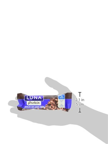 LUNA PROTEIN - Gluten Free Protein Bar - Chocolate Chip Cookie Dough - 1.59 oz, (12 Count)(Packaging may vary)