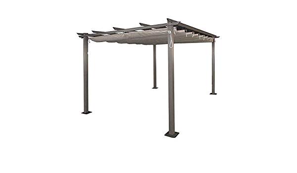 AGROFER Pérgola Aluminio 3x4 m. Techo corredero: Amazon ...